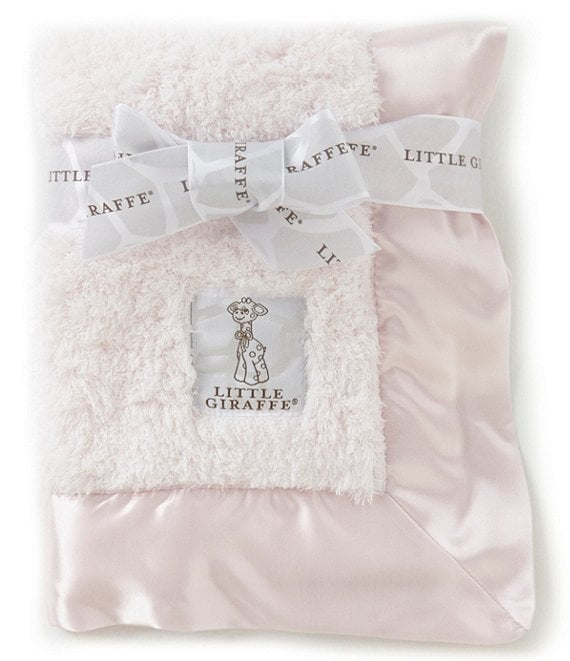 Little Giraffe Pink Chenille Security Blanket Pink