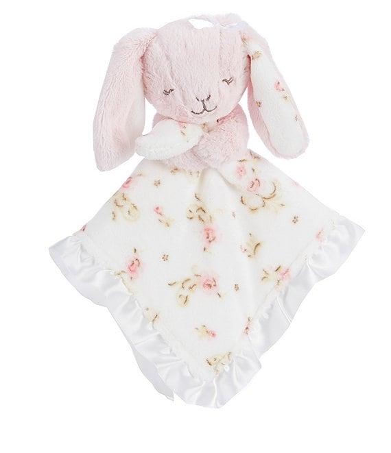 Color:Pink - Image 1 - Baby Girls Vintage Rose Bunny Snuggle Buddy