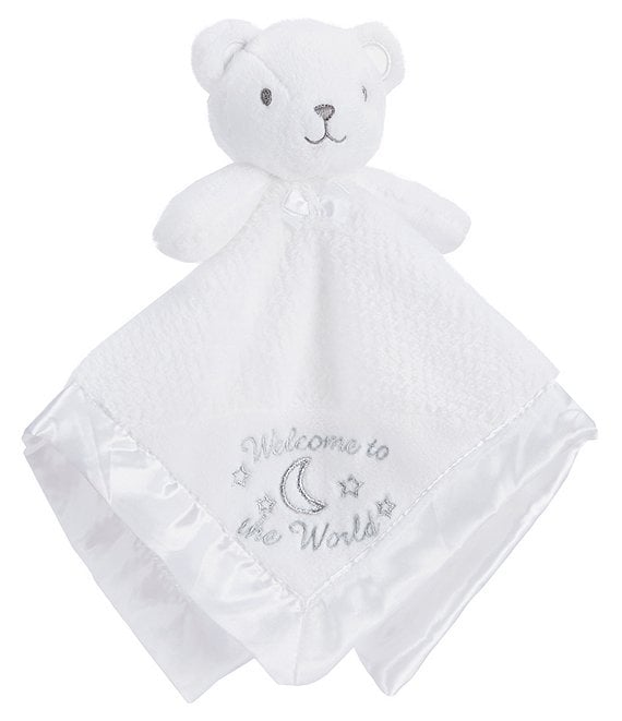Color:White - Image 1 - Baby Welcome To The World Bear Snuggle Buddy Blanket