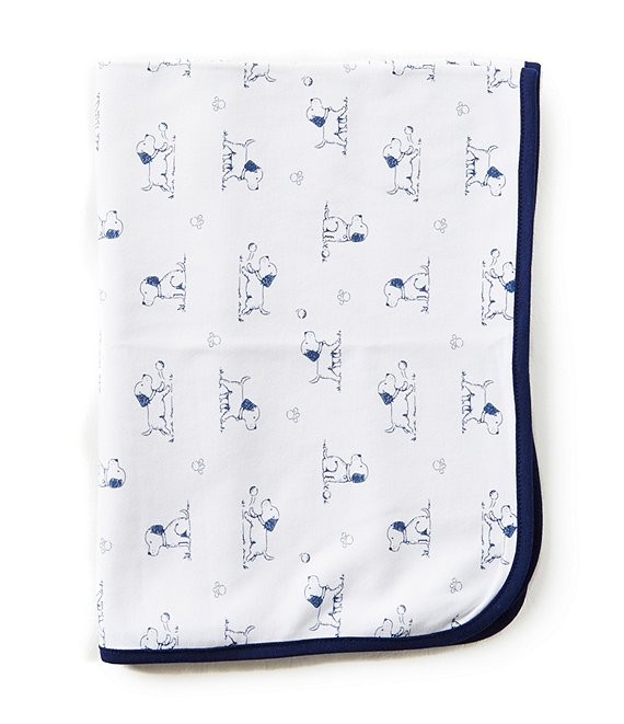 Little Me Puppy Toile Printed Blanket
