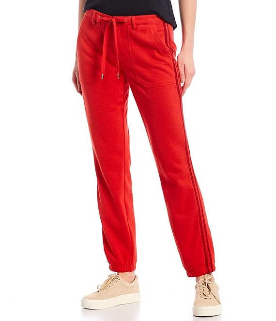 Color:Molten Lava - Image 1 - Elastic Back French Terry Jogger