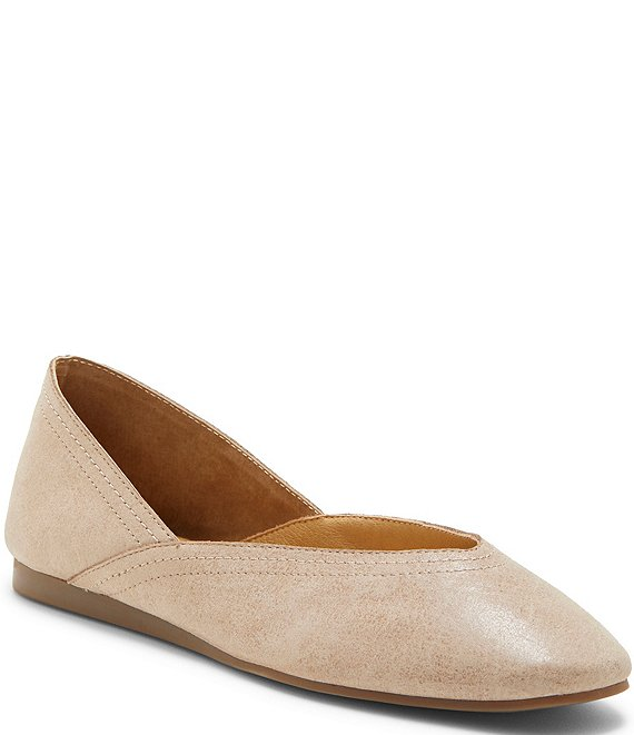 Color:Hazel - Image 1 - Alba Deconstructed Leather Flats