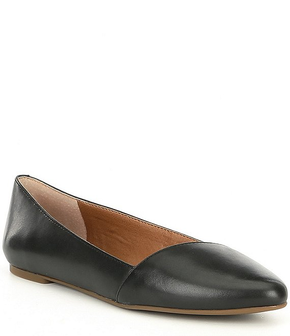Color:Black - Image 1 - Archh Leather Slip On Flats