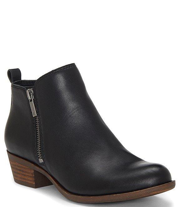 0d46a2f10 Lucky Brand Basel Smooth Leather Zip Block Heel Booties | Dillard's