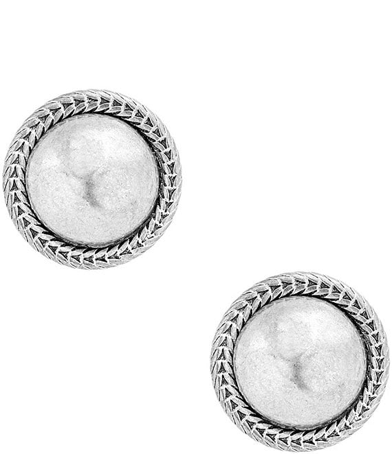 Color:Silver - Image 1 - Chain Bead Stud Earrings