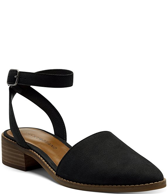 Color:Black - Image 1 - Linore Suede Sandals