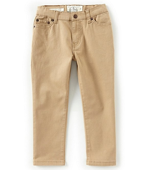 Color:Kelp - Image 1 - Little Boys 2T-7 Twill Trouser Pants