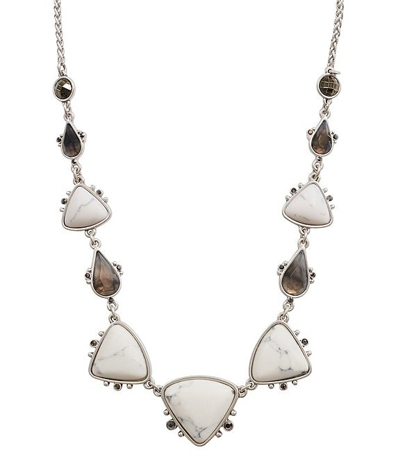 Lucky Brand Set Stone Collar Necklace