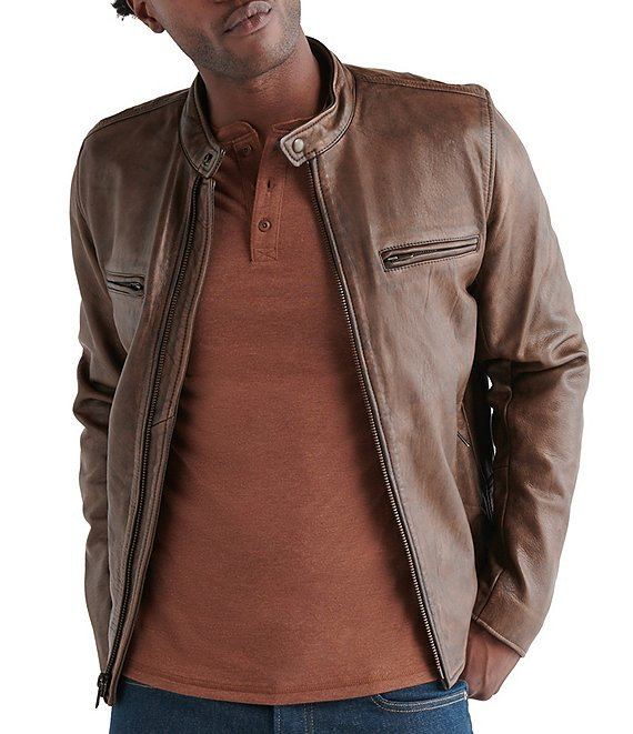 Lucky Brand Vintage Leather Jacket