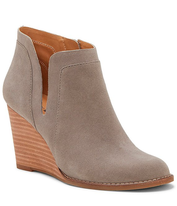 Lucky Brand Yabba Suede Wedge Booties