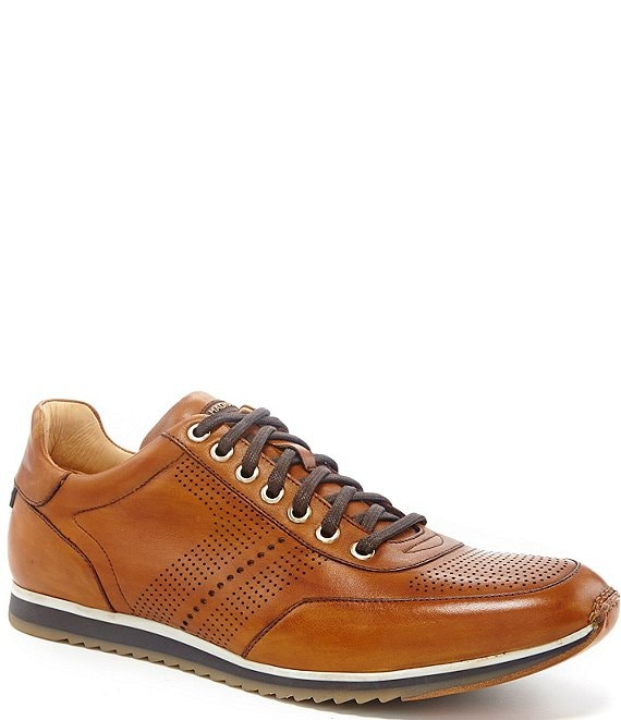 Pueblo Perforated Leather Sneakers
