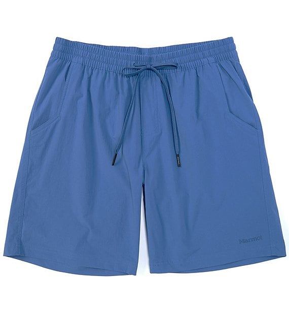 Color:Varsity Blue - Image 1 - Allomare Water-Resistant 8#double; Inseam Shorts