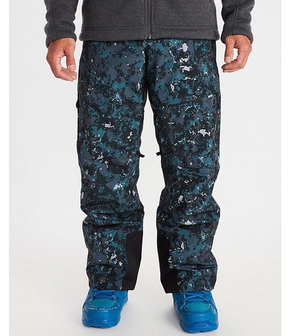 Color:Snow Ridge Camo - Image 1 - Layout Cargo Camouflage Snow Ski Pants