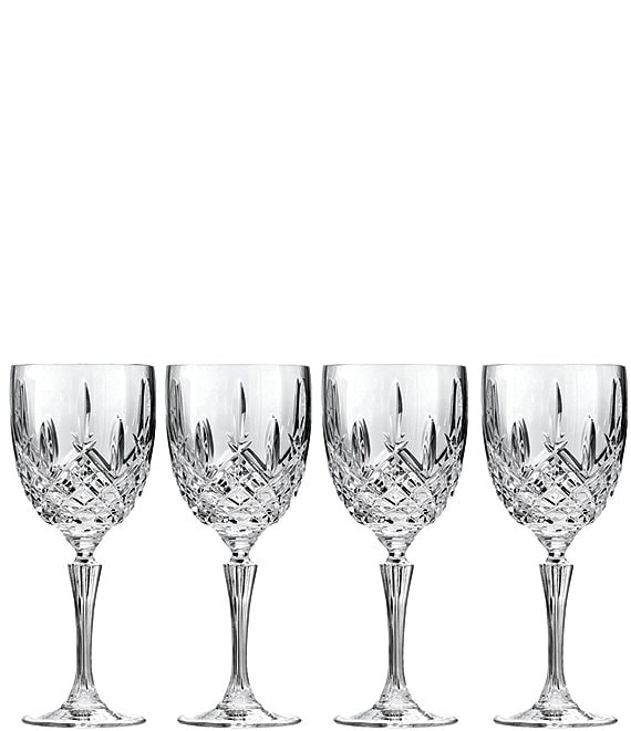 Marquis by Waterford Markham 4-Piece Traditional Crystal Goblet Set