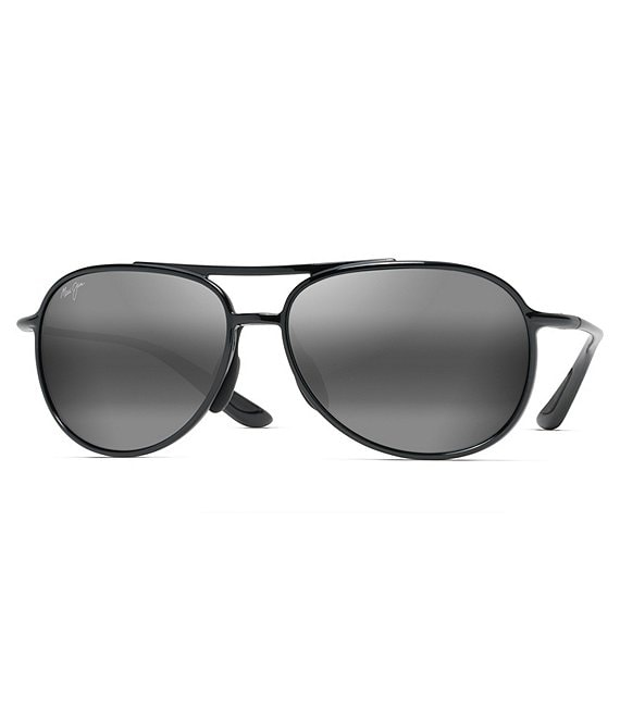 Color:Black - Image 1 - Alelele Bridge PolarizedPlus2® Aviator 60mm Sunglasses