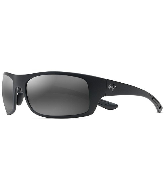 Color:Matte Black - Image 1 - Big Wave PolarizedPlus2® Wrap 67mm Sunglasses