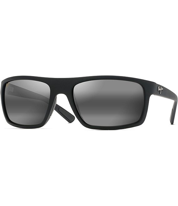 Color:Matte Black - Image 1 - Byron Bay Mirrored PolarizedPlus2® Wrap 62mm Sunglasses