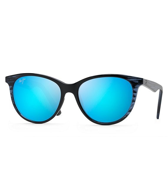 Color:Blue Black Stripe - Image 1 - Cathedrals PolarizedPlus2® Square 52mm Sunglasses