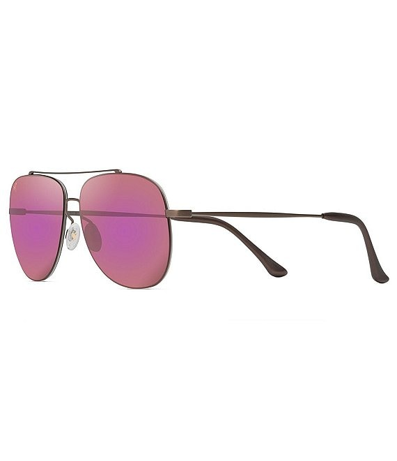 Color:Satin Sepia - Image 1 - Cinder Cone PolarizedPlus2® Aviator 58mm Sunglasses