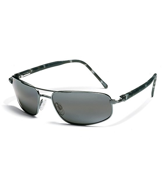 Color:Gunmetal - Image 1 - Kahuna PolarizedPlus2® Rectangular 59mm Sunglasses