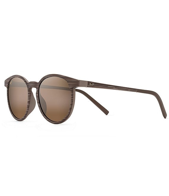 Color:Brown Stripe - Image 1 - Kiawe PolarizedPlus2® Round 53mm Sunglasses
