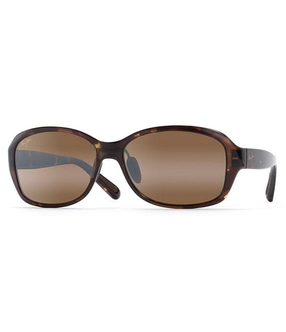 Color:Olive Tortoise - Image 1 - Koki Beach PolarizedPlus2® Rounded 56mm Sunglasses