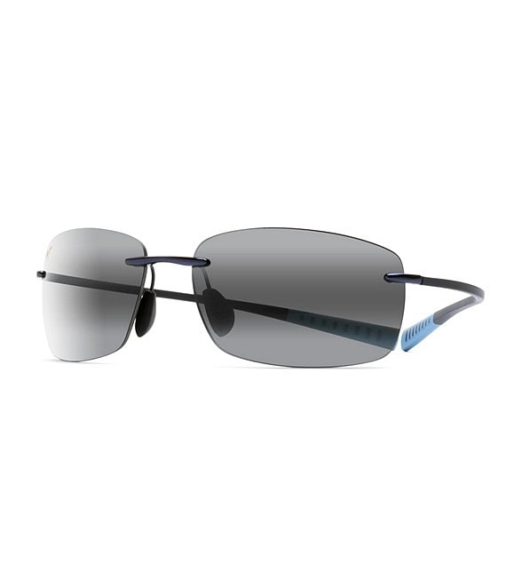 Color:Blue - Image 1 - Kumu PolarizedPlus2® Rimless 64mm Sunglasses