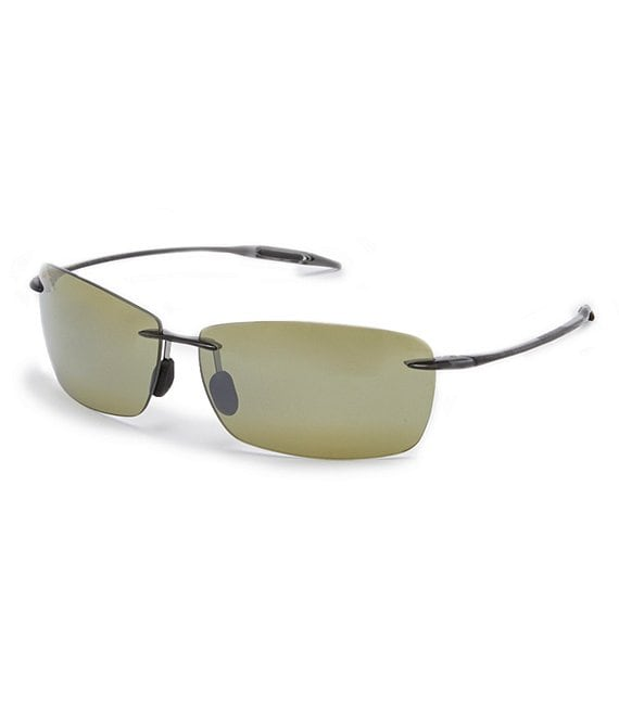 Color:Grey - Image 1 - Lighthouse PolarizedPlus2® Rectangular 65mm Sunglasses