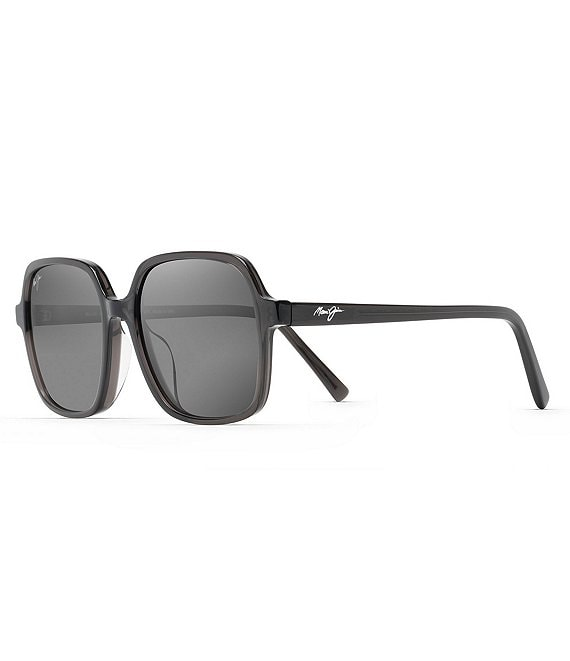 Color:Translucent Grey - Image 1 - Little Bell PolarizedPlus2® Square 55mm Sunglasses