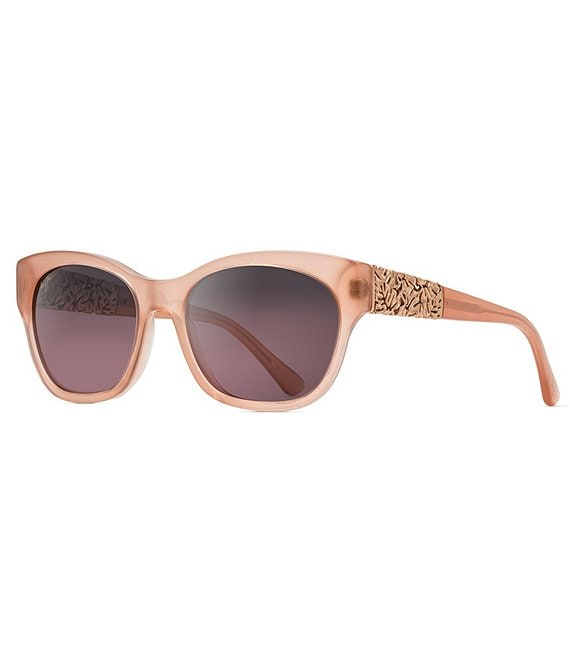 Color:Guava Pink 24k Rose Gold - Image 1 - Monstera Leaf PolarizedPlus2® Luxury 57mm Sunglasses