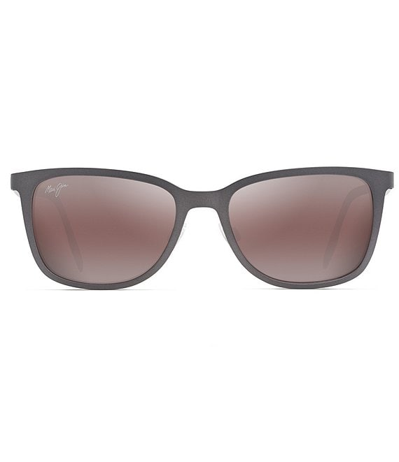 Color:Dark Gunmetal - Image 1 - Naupaka PolarizedPlus2® Square 53mm Sunglasses