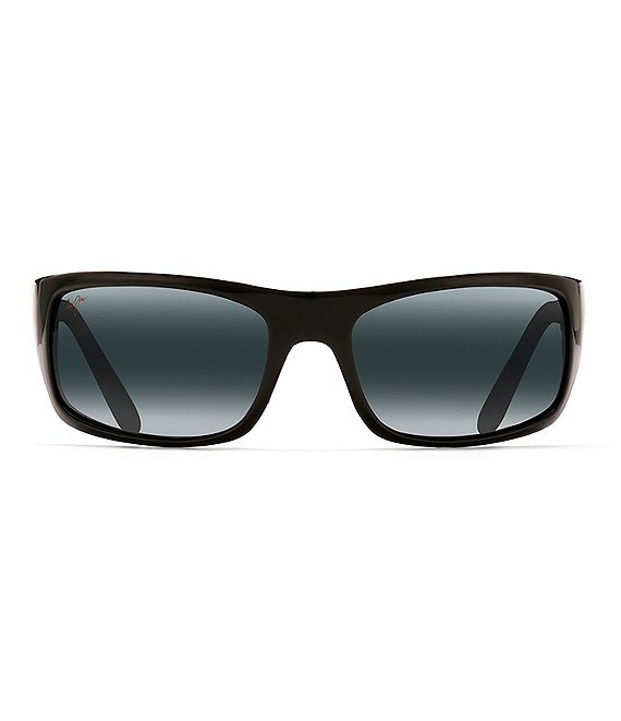 Color:Black - Image 1 - Peahi PolarizedPlus2® Wrap 65mm Sunglasses
