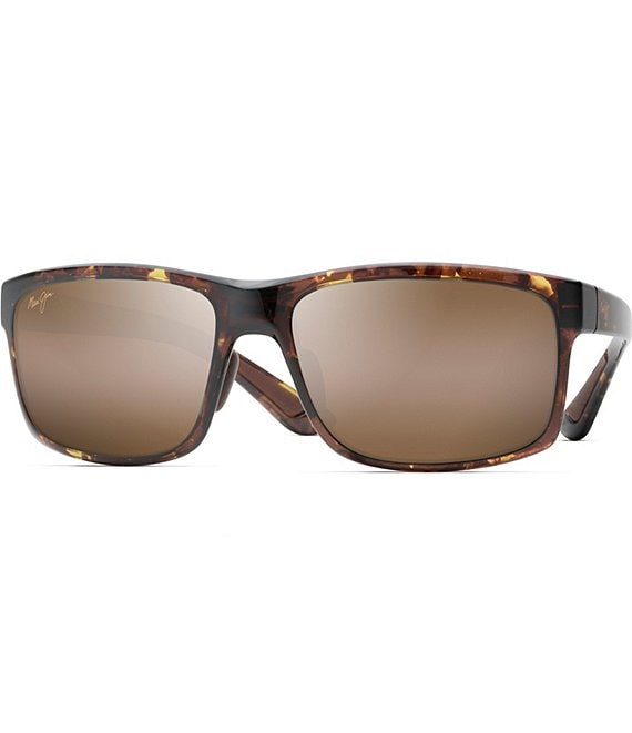 Color:Olive Tortoise - Image 1 - Pokowai Arch PolarizedPlus2® Rectanglar 58mm Sunglasses