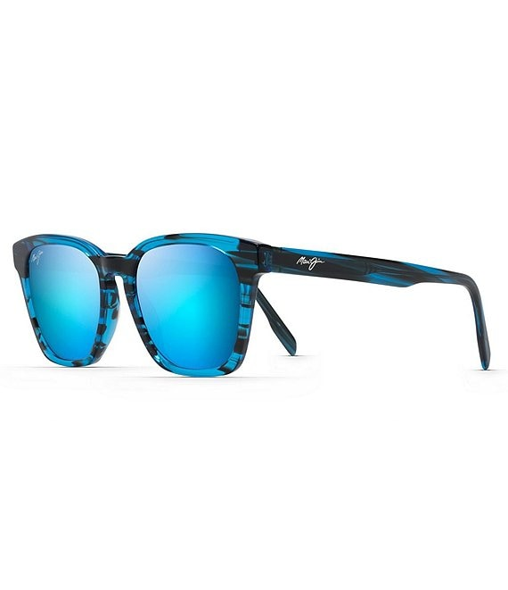 Color:Electric Blue - Image 1 - Shave Ice PolarizedPlus2® Square 52mm Sunglasses