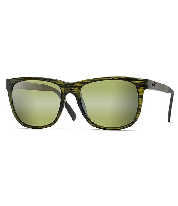 Color:Matte Green - Image 1 - Tail Slide PolarizedPlus2® Square 53mm Sunglasses