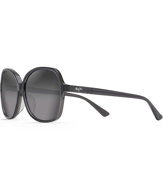 Color:Translucent Grey - Image 1 - Taro PolarizedPlus2® Butterfly 59mm Sunglasses