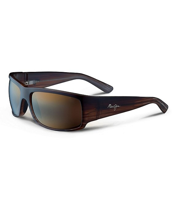 Color:Chocolate - Image 1 - World Cup PolarizedPlus2 Wrap 64 mm Sunglasses