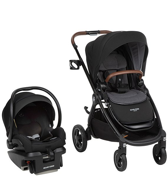 Color:Essential Black - Image 1 - Adorra 5-in-1 Modular Travel System