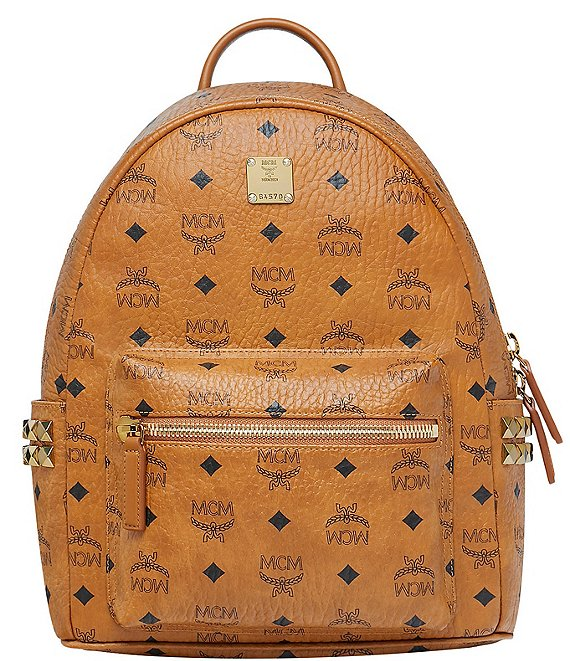 Color:Cognac - Image 1 - Visetos Collection Stark Small Backpack