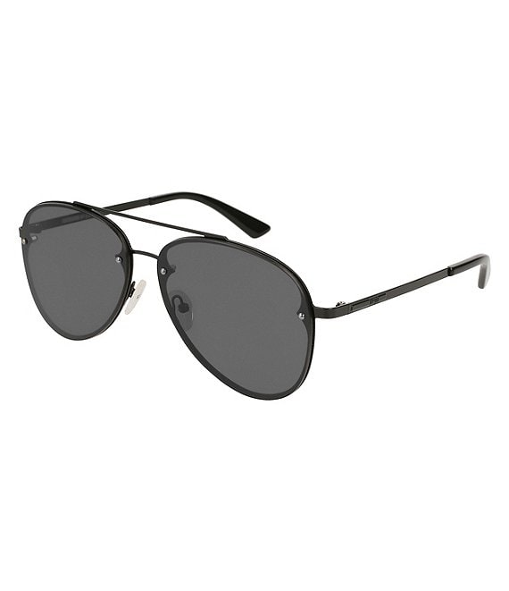 McQ by Alexander McQueen Black Aviator Sunglasses