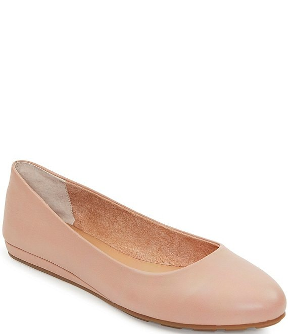 Color:Driftwood - Image 1 - Alina Leather Wedge Ballet Flats