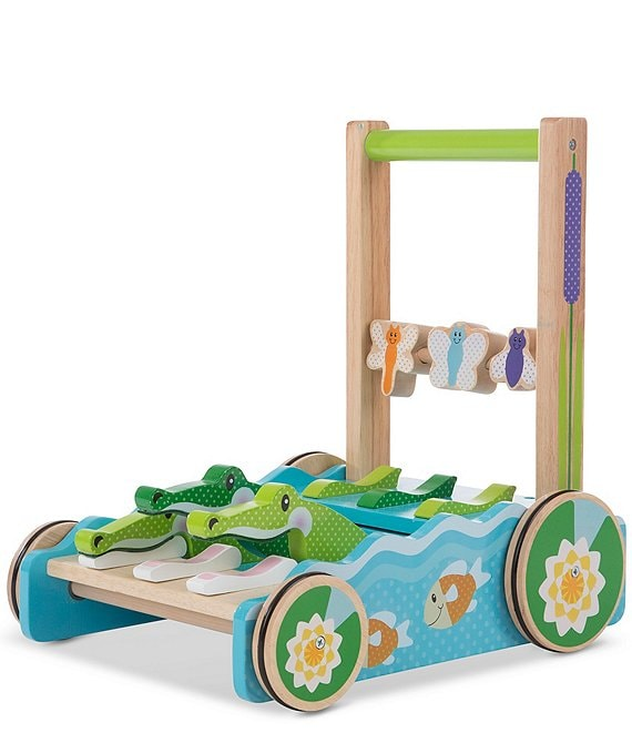 Melissa & Doug First Play Chomp And Clack Alligator Push Toy