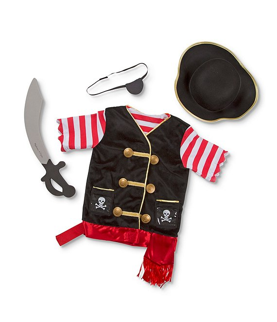 Color:Multi - Image 1 - Kids Pirate Role Play Costume Set