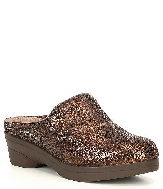 Mephisto Salty Metallic Leather Clog