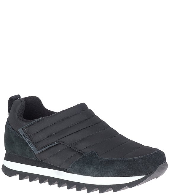 Color:Blackout - Image 1 - Alpine Moc Strap Polar Nylon Suede Sneakers