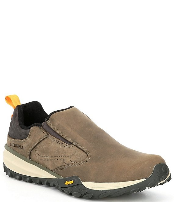 Color:Olive - Image 1 - Men's Havoc Wells Leather and Mesh Slip-On Moccasins