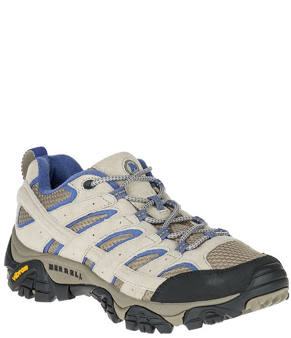 Color:Aluminum/Marlin - Image 1 - Women's Moab 2 Vent Suede and Mesh Hiking Shoes