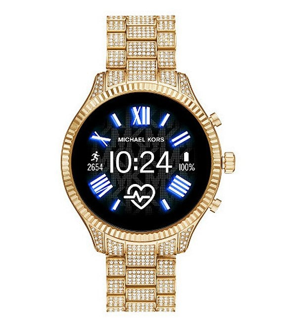 Color:Gold - Image 1 - Access Lexington Gold Pave Touchscreen Smartwatch