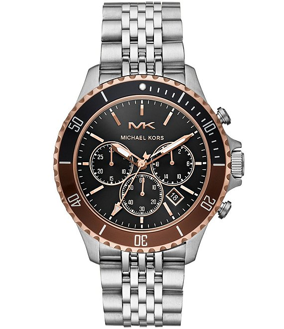 Color:Silver - Image 1 - Bayville Chronograph Stainless Steel Watch