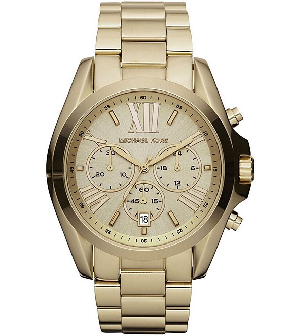 Michael Kors Bradshaw Goldtone Stainless Steel 3 Hand Watch